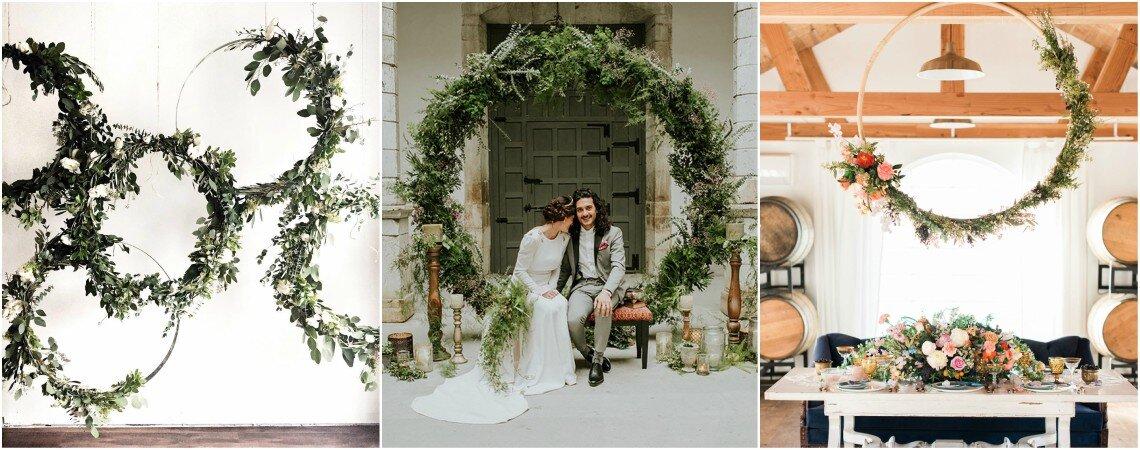 Hoops Deco: gli anelli floreali che tanto piacciono agli sposi 2018