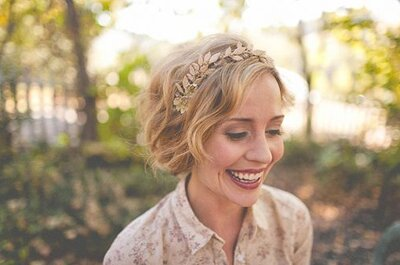 Schicke Brautfrisuren 2014 mit Haarschmuck