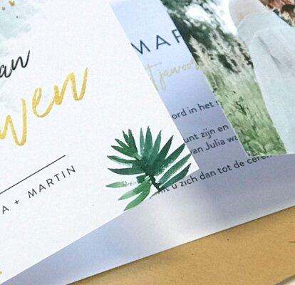 Magnifiek De meest originele ideeën voor jullie trouwkaarten @GM18