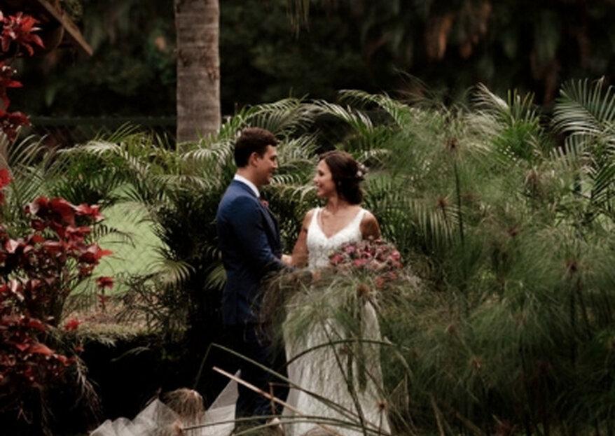 Larissa & Ricardo: casamento dos sonhos em meio à natureza exuberante do Lajedo