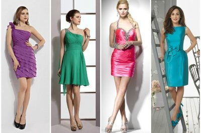 Per le giovani invitate a nozze è perfetto un abito corto nei colori fluo!