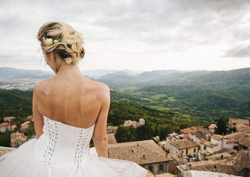 A Wedding A Thousand Meters Up In The Air At Castello Baronale di Collalto Sabino