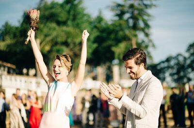 Casamento moderno de Marcela & Lucas: First Look e muito verde no lugar das flores!