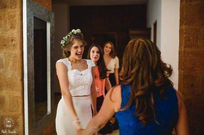 5 comentarios que TODA novia debe ignorar durante la prueba del vestido de novia