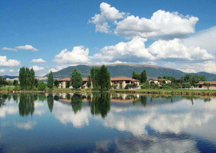 Hotel Spa & Golf Valle di Assisi: una location perfetta per celebrare le nozze in giardino, ai piedi della stupenda città di Assisi