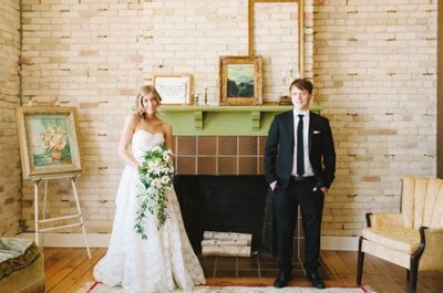 Un romantico Real Wedding retrò in Michigan