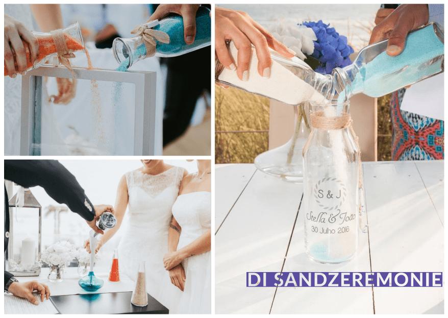 Was ist eine Sandzeremonie? Alle Infos zum romantischen Trauritual!