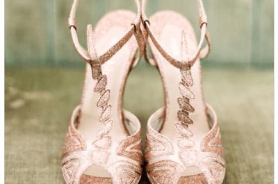 Joyas al andar: Zapatos de novia en tendencia con cientos de brillos y aplicaciones