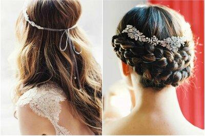 Pettinature da sposa 2015: capelli, cornici e corone...