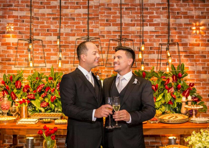 Casamento de Sam & Wel: troca de alianças marcada pela elegância, romantismo e uma boa dose de emoção!
