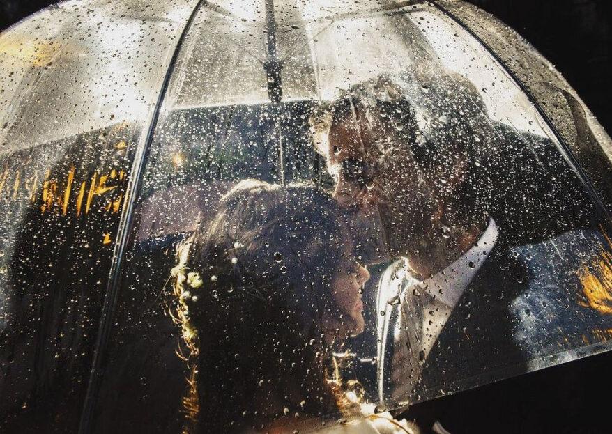 ¿Cómo sobrevivir a un matrimonio con lluvia? ¡Cinco pasos para tener todo bajo control!