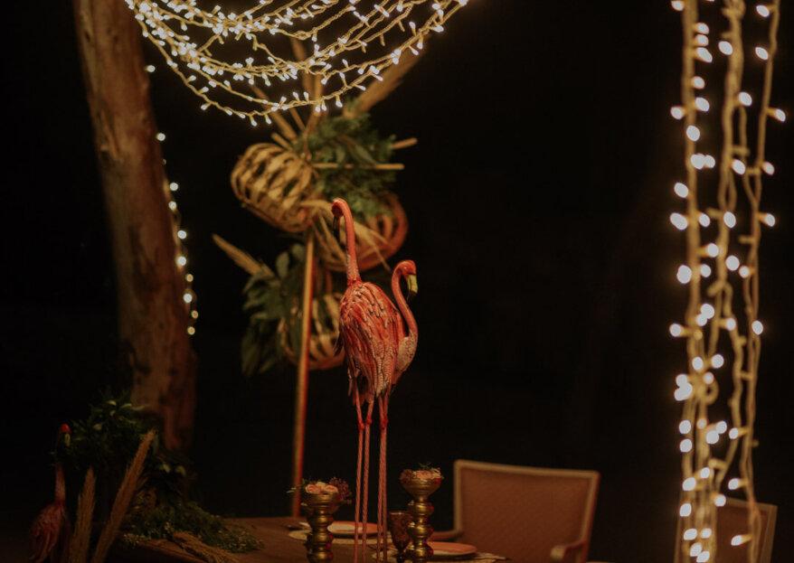 'Wishes in pink': un 'sí, quiero' rodeados de neón y flamencos