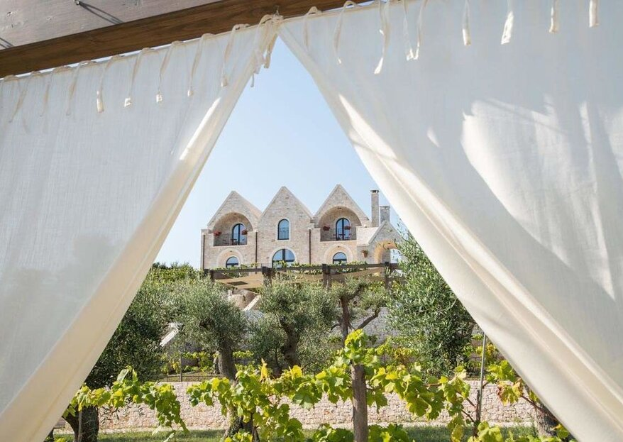 Ottolire Resort: where the white of an ancient and elegant trulli is lost among the green of the olive trees