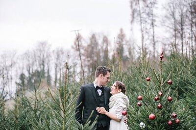Schweizer Winterhochzeit am Samichlaustag: Rebecca & Michaels Traumhochzeit im Dezember!