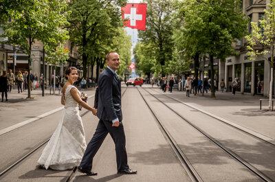 Zürich, die Traumstadt zum Heiraten: Der große Tag von Petri und Erika im Frauenbadi!