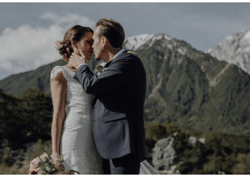 Hochzeit mit traumhafter Bergkulisse – so heirateten Daniela und Philipp in Tirol