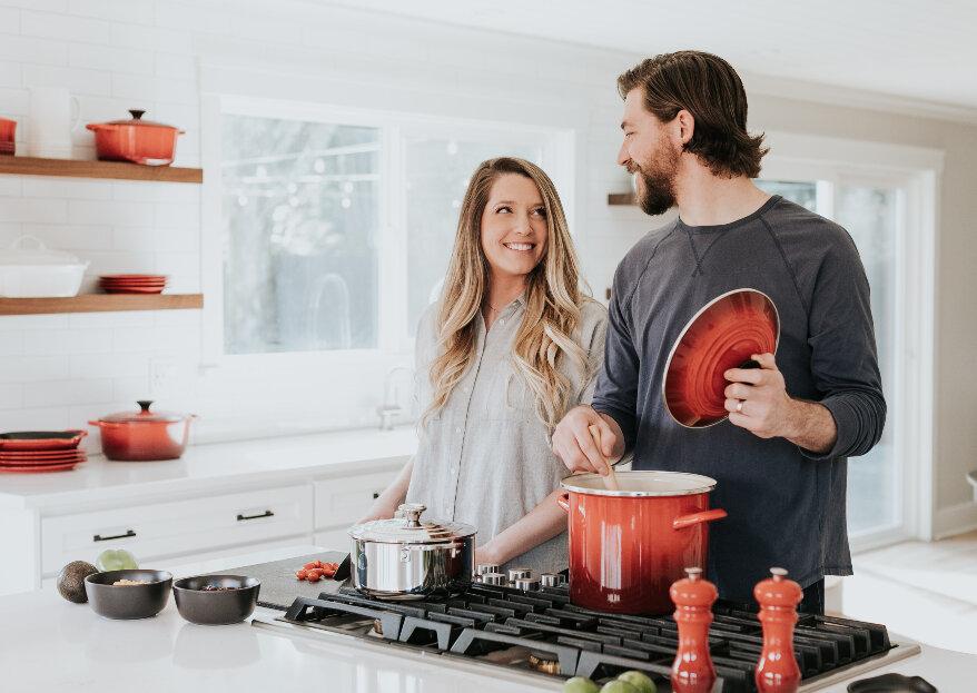 Cozinhar a dois: uma prática a adotar pelos casais & uma receita saudável!
