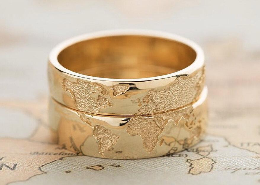 Alianças originais para noivos diferentes: 10 opções únicas!