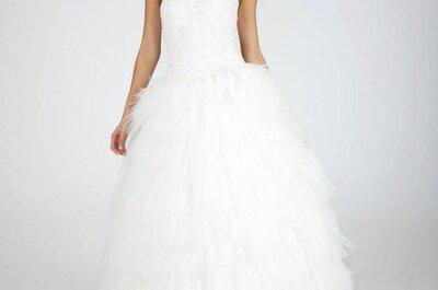 Elegantes vestidos de novia Oscar de la Renta otoño 2013