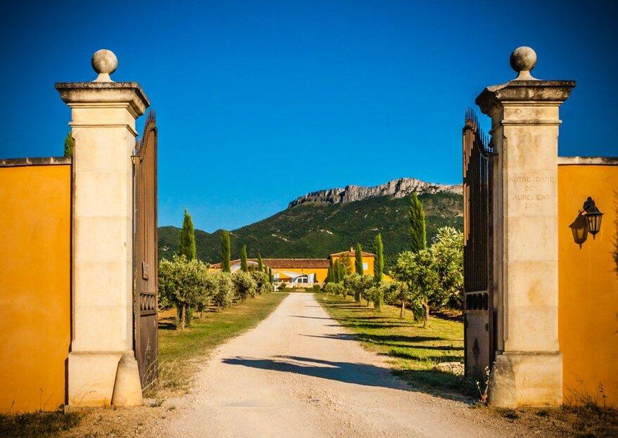 Mariage en Provence : misez sur le décor idyllique qu'offre Le Mas des Auréliens