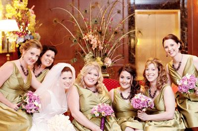 Ramos de novia en morado