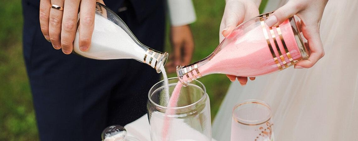 Ceremonia de la arena para tu boda ¡Una unión simbólica con mucho significado!