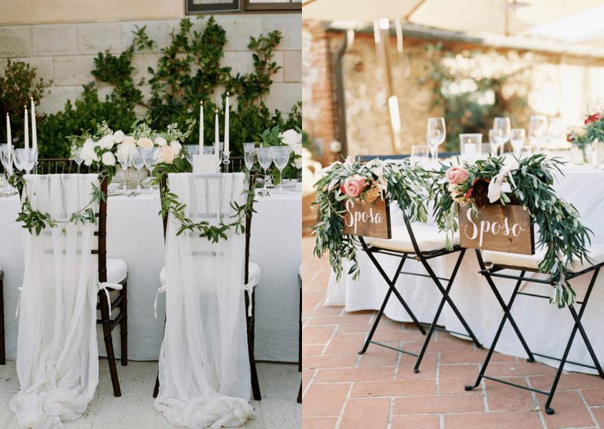Cómo decorar las sillas de tu boda: 5 ideas fáciles y súper bonitas