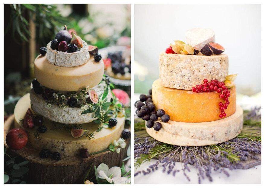Kaas bruidstaart: een moedige beslissing voor jullie bruiloft!
