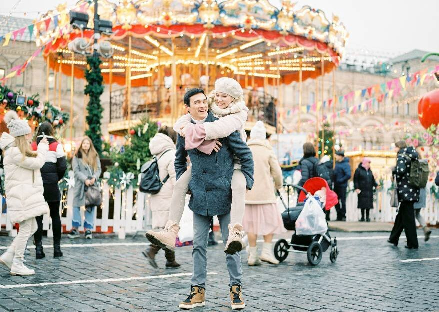 Затишье перед новогодним волшебством: фотосессия Тины и Альфиза у ГУМа