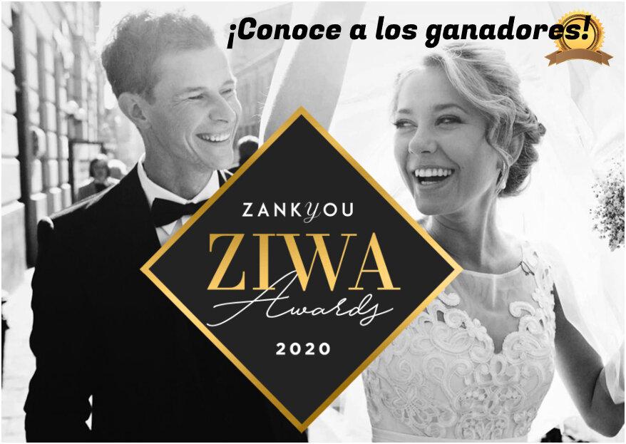 Ganadores de los premios ZIWA 2020: ¡los mejores profesionales de las bodas!!