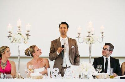 So halten Sie die perfekte Hochzeitsrede!