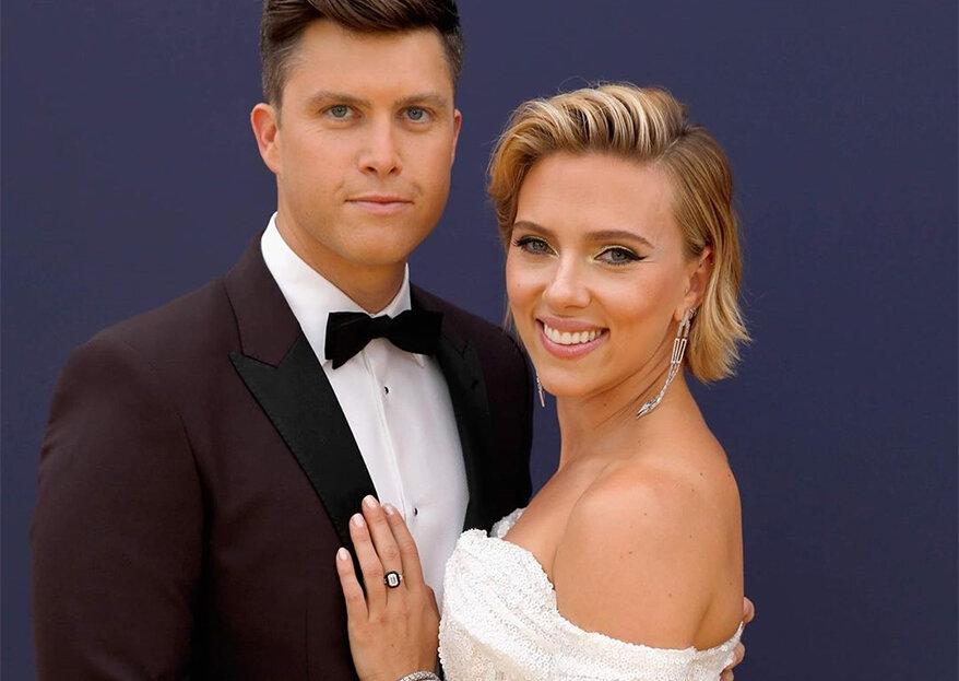 Scarlett Johansson anuncia noivado com Colin Jost