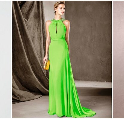 448691ce6 20 vestidos de fiesta verdes largos 2017  ideales para las bodas de noche