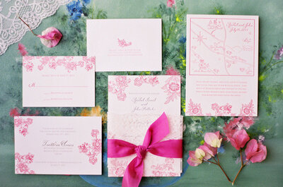 Rosa y más rosa: Enamórate de la más hermosa decoración de boda con acentos en tonos rosados