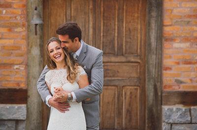 Casamento ao ar livre de Marcela & Matheus: com clima de fazenda e cheio de energia positiva!