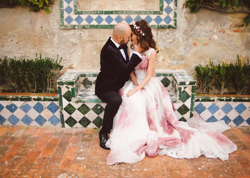 A noiva vestida de rosa: os mais belos vestidos para 2018