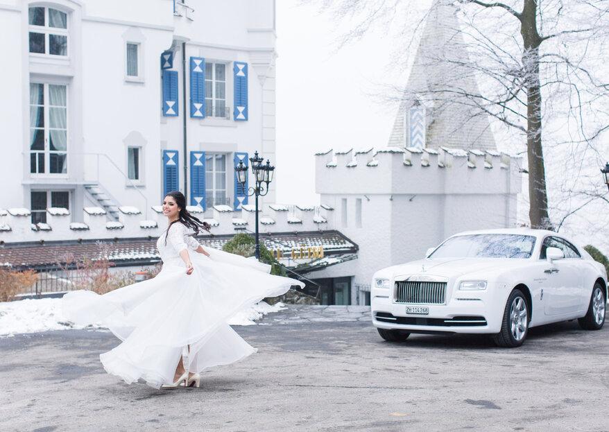 Traumhaftes Hochzeitsshooting in Luzern – Inspirationen für winterliche Hochzeiten