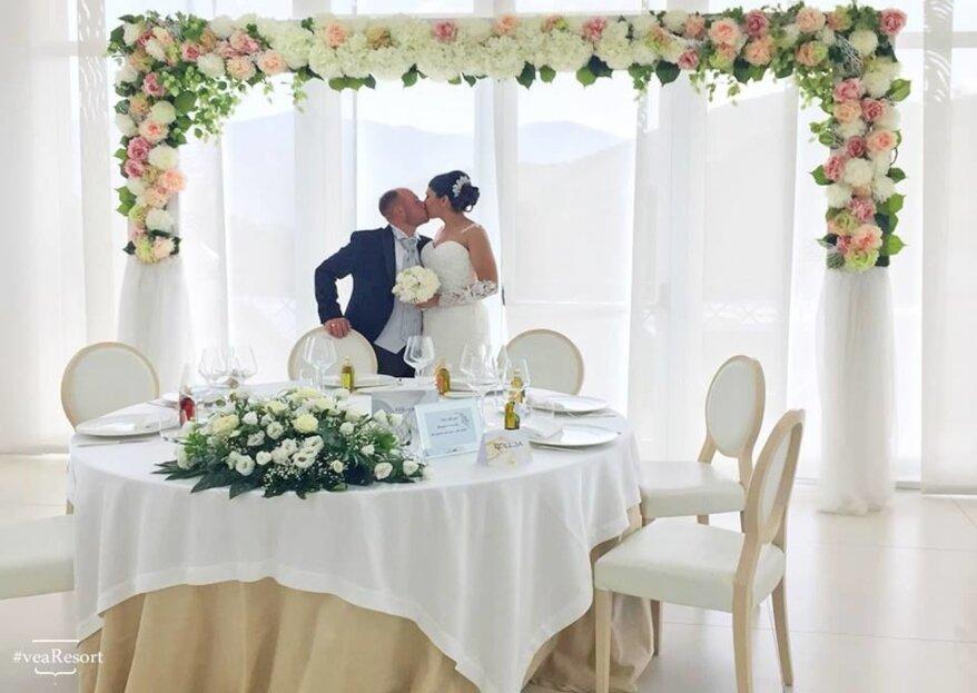 Immersi nella profumata e soleggiata campagna campana, le vostre nozze da sogno al Vea Resort