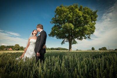 Naturverliebt? Dann werden Ihnen diese Hochzeitsfotos gefallen!