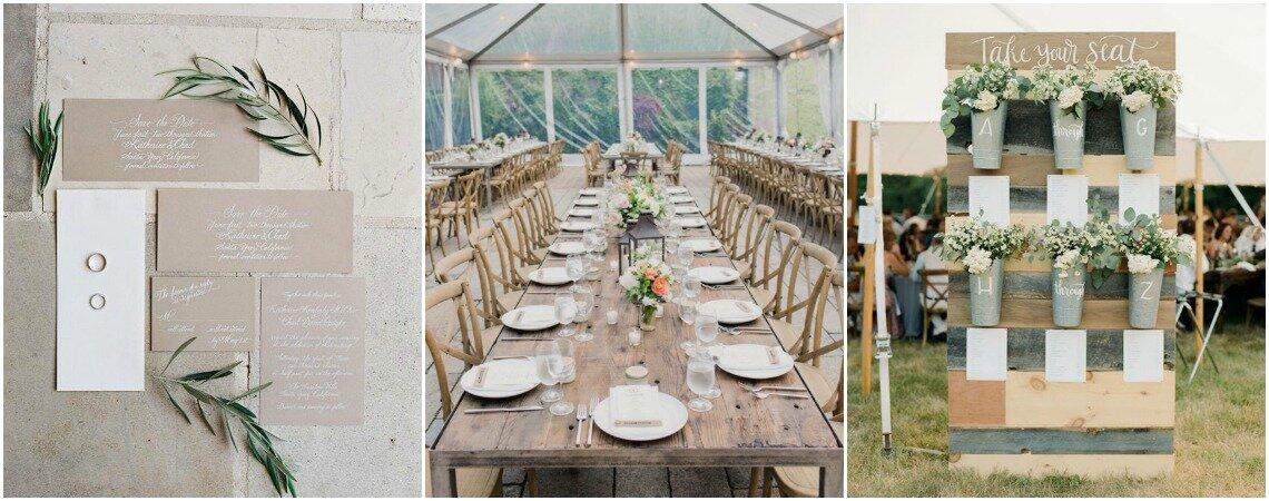 """Decorazione rustic chic per il tuo matrimonio: quando """"bucolico"""" è sinonimo di glamour!"""