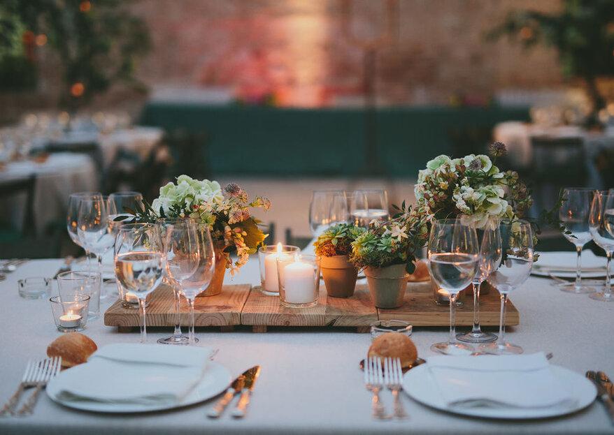 5 innovadoras ideas para tu banquete de boda: ¿cuál es la ideal para vosotros?