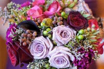 El matiz imperial perfecto: Atrévete a decorar tu boda con detalles color violeta