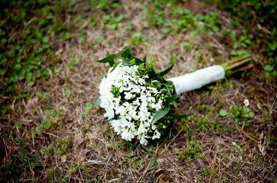 Buquês de noiva brancos para uma noiva apaixonada