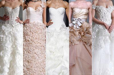 Fiori in 3D nel vostro look nuziale: esplode il trend 2012!