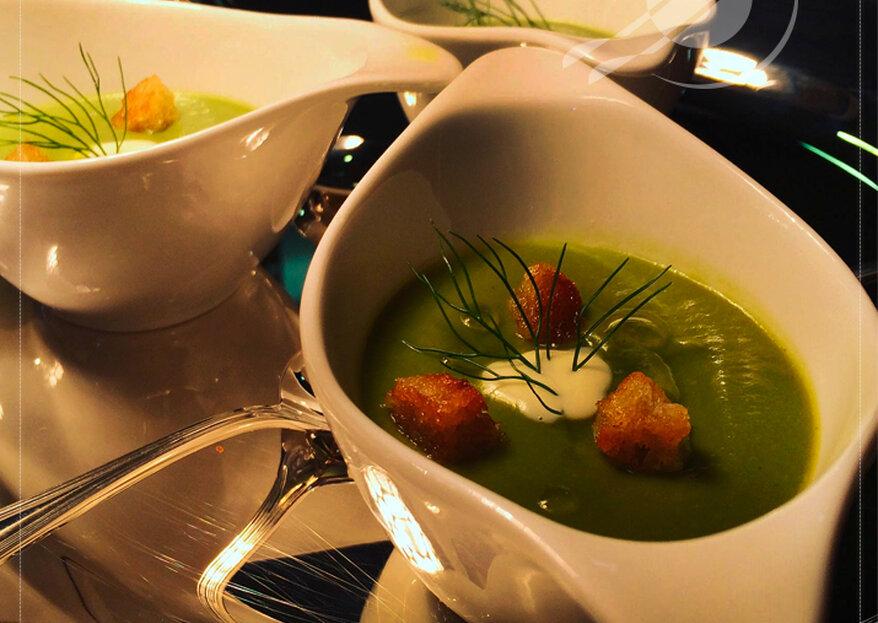 Alta gastronomia delicada e criativa no seu casamento: sucesso garantido no seu casamento!
