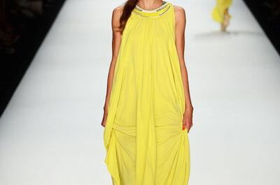Vestidos de fiesta 2013 amarillo limón, el color de moda
