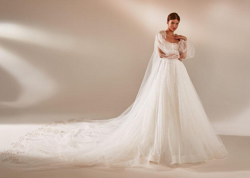 20 vestidos de novia con capa 2021: un toque de distinción para tu boda