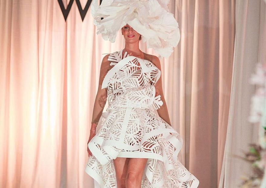 Quando o limite é a imaginação: vestidos de noiva em papel by Raquel Marques. Atrever-se-ia a casar assim?