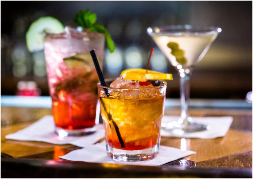 ¿Qué bebidas y cocteles ofrecer a los invitados de tu boda? Esta gran mini guía es la respuesta
