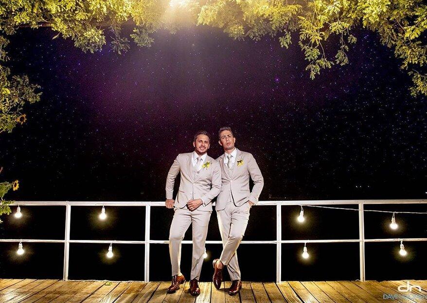 Carlinhos Maia e Lucas Guimarães se casam em linda cerimônia com pôr do sol às margens do Rio São Francisco